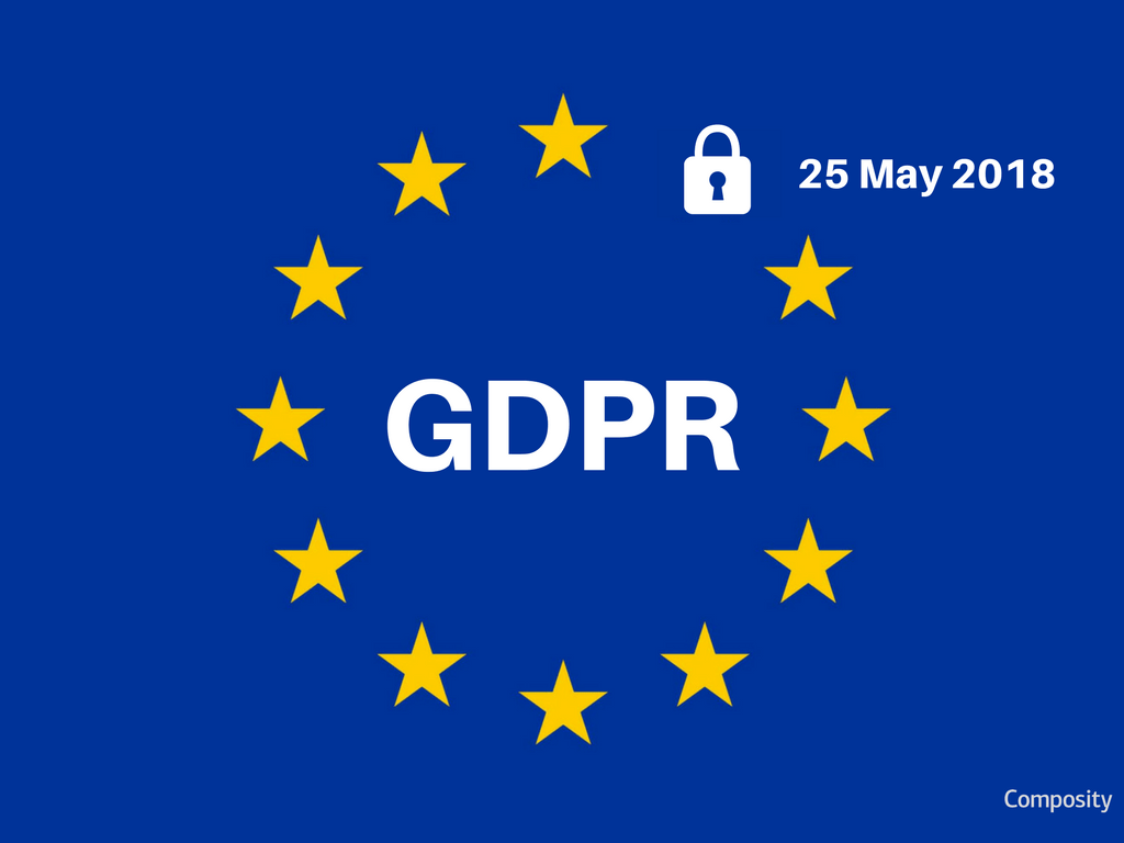 European Union General Data Protection Regulation graphic from Composity