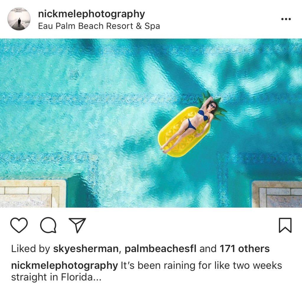 Floatie fun by Nick Mele on Instagram